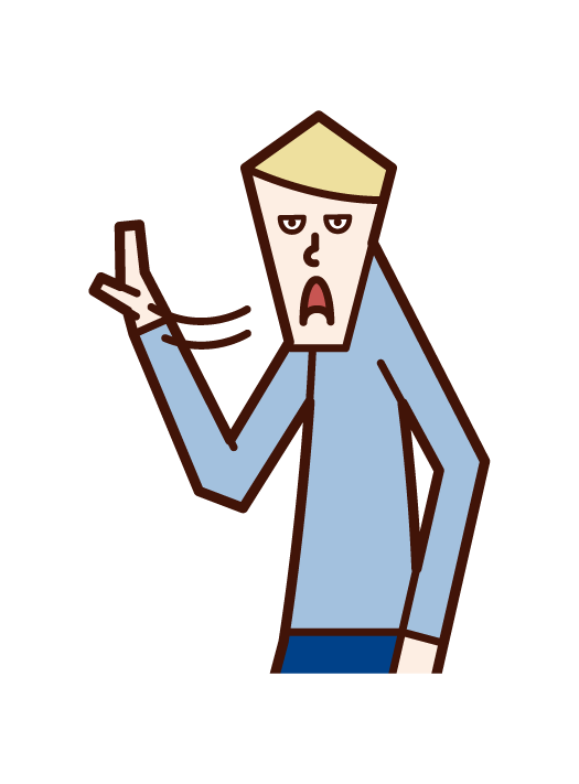 Illustration of a gesture (male) that can be removed