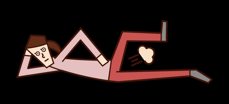 オナラをする人(男性)のイラスト