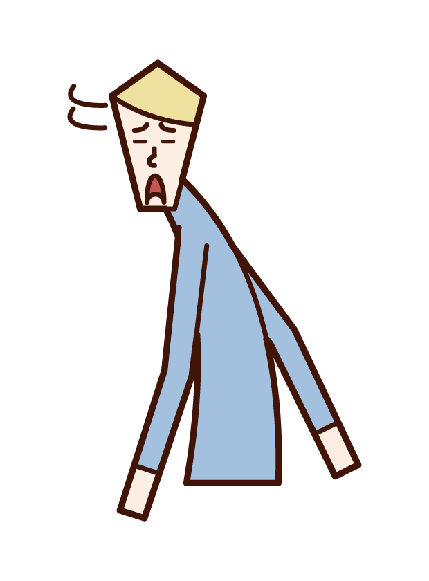 Illustration of a man turning around with a troubled face