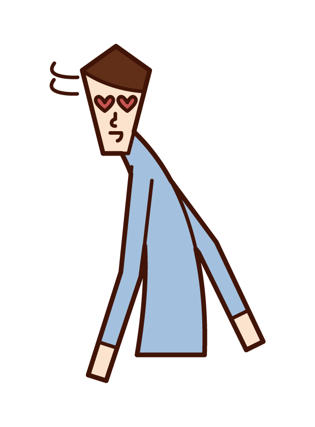 Illustration of a man turning around in anger