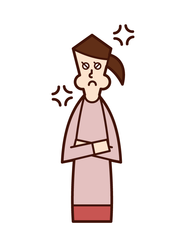 Illustration of a woman who is angry