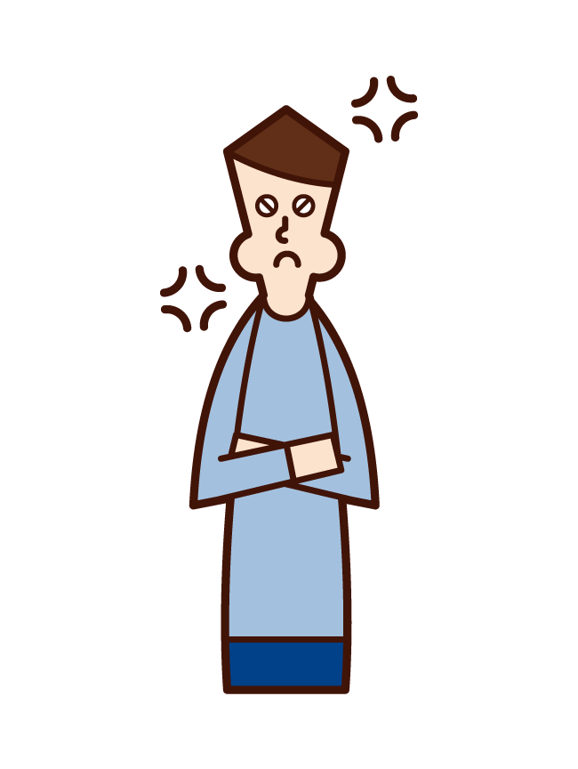 Illustration of a man who is angry