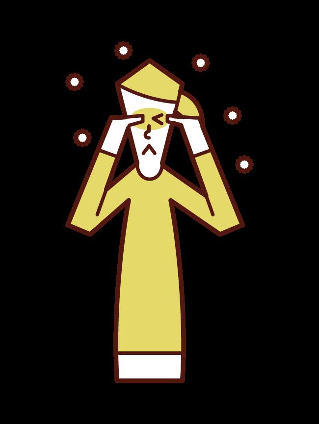 Illustration of Hay fever (female)