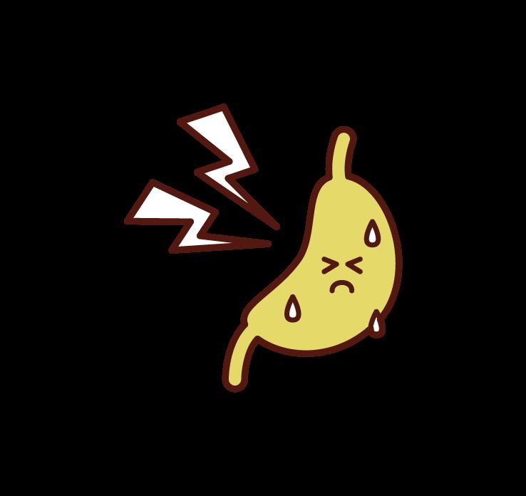 胃痛のイラスト