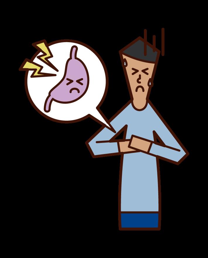 胃癌(男性)のイラスト