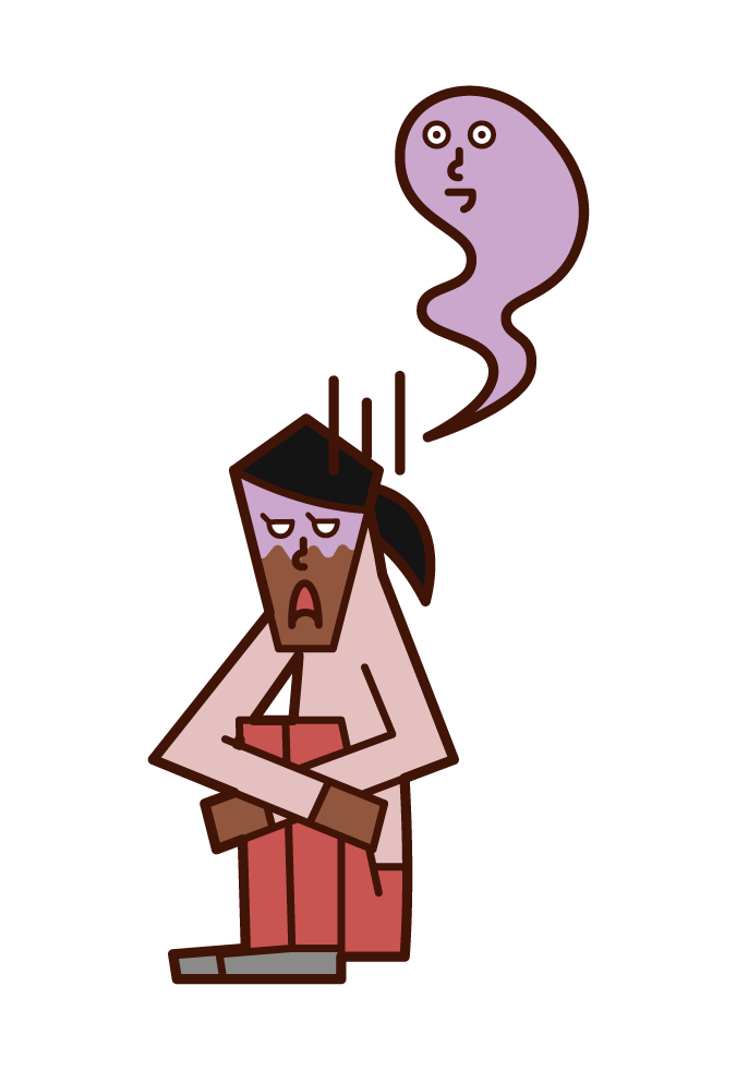 重度の鬱(女性)のイラスト