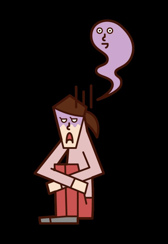 심한 우울증 (여성)의 그림