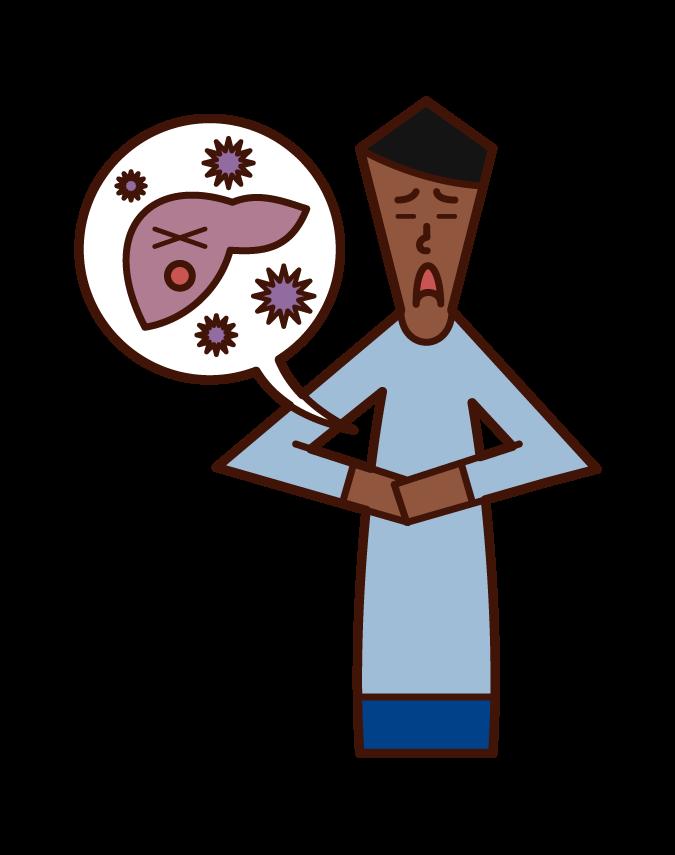 바이러스 성 간염 (남성) 그림
