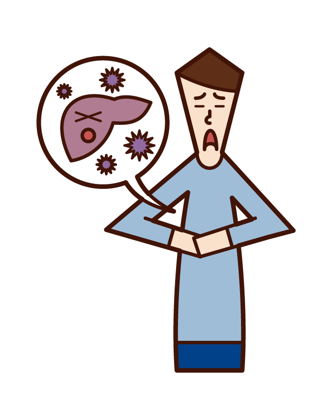 Illustration of dengue fever (female)