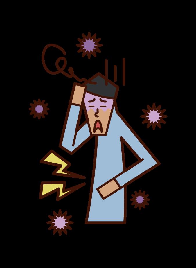 감염 (남성) 그림
