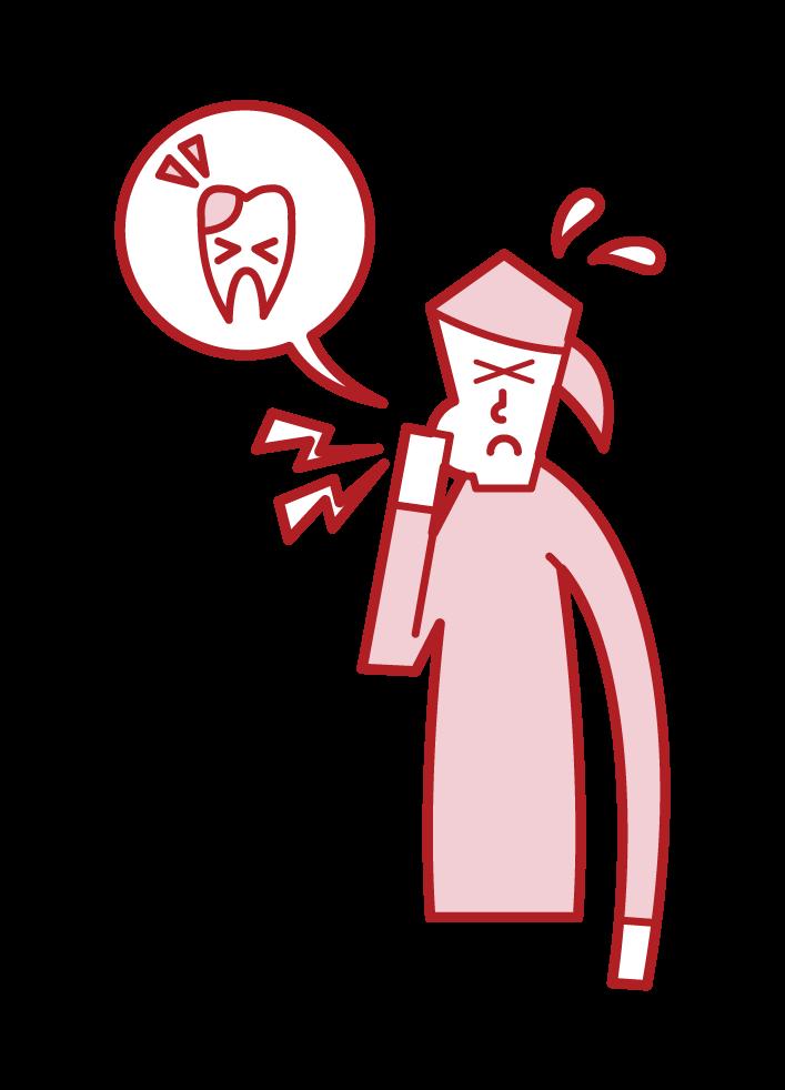 Illustration of cavity (female)