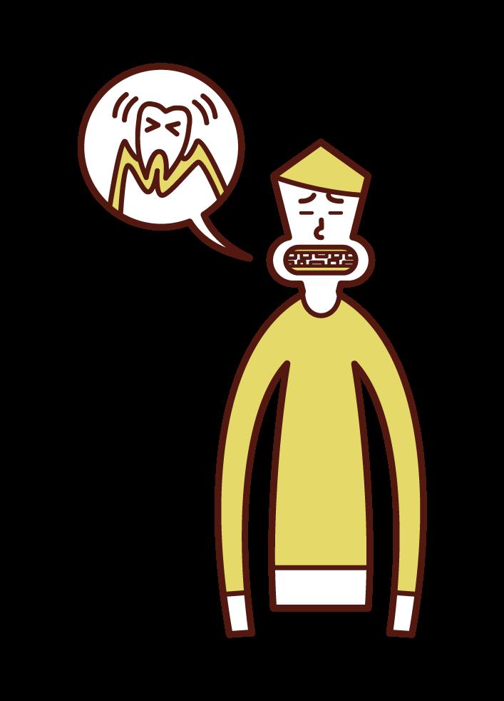 歯周病(男性)のイラスト