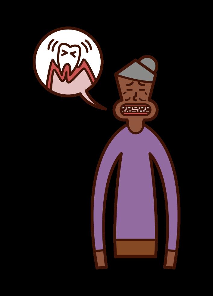치주 질환 (여성) 그림