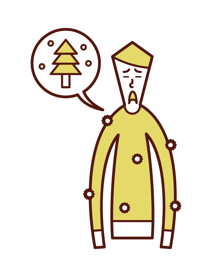 花粉(男性)のイラスト