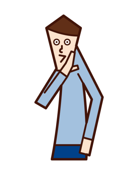 Illustration of a man talking about hissing