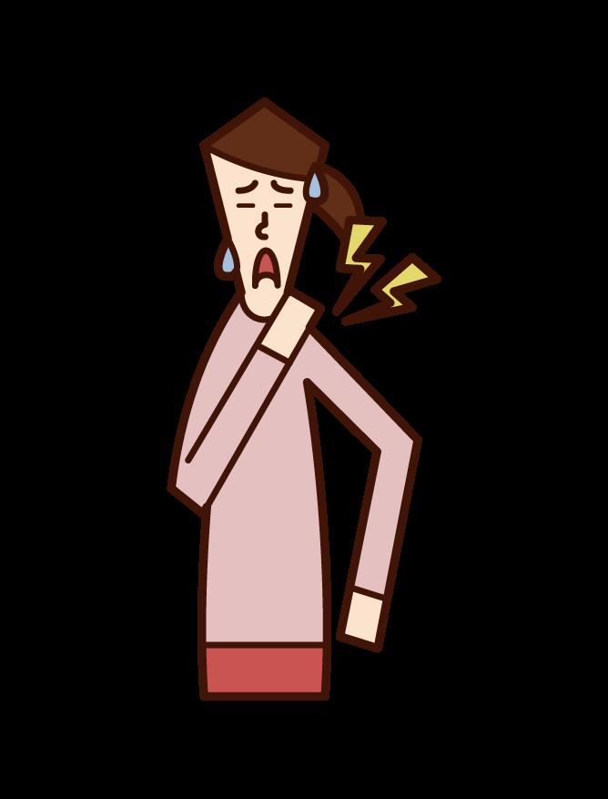 脱臼(男性)のイラスト