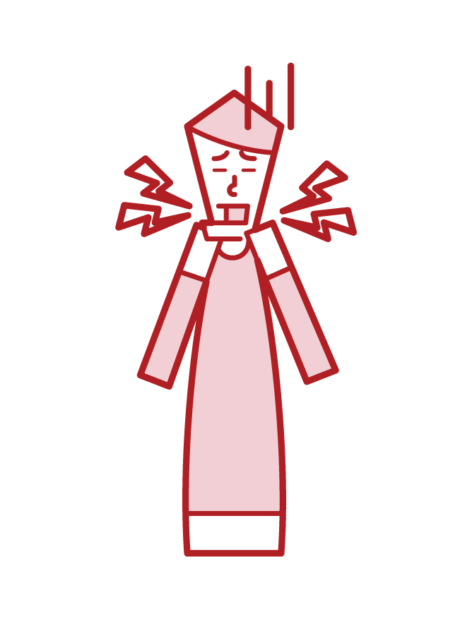 턱 관절염 (남성) 일러스트