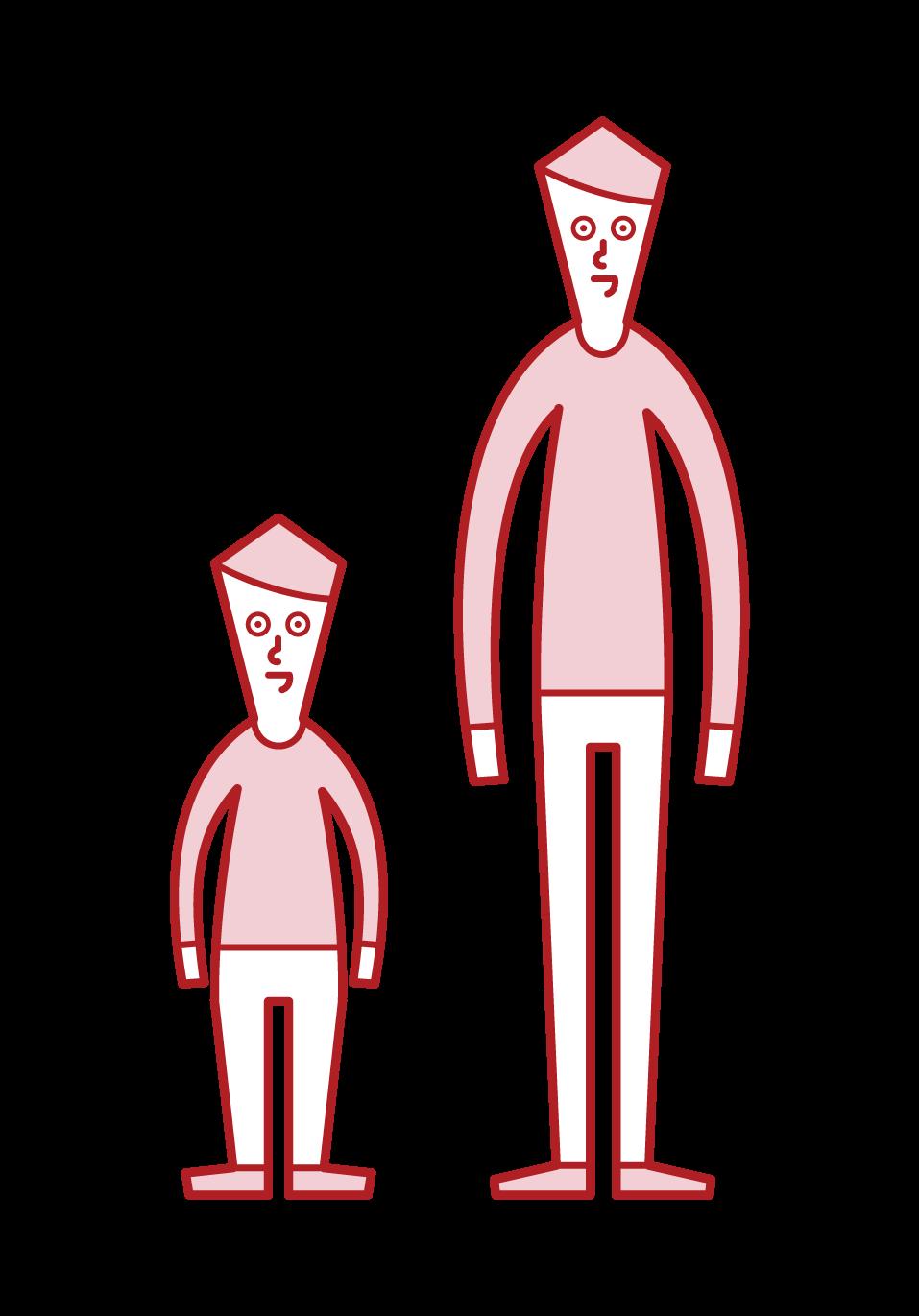 低身長症・小人症(男性)のイラスト