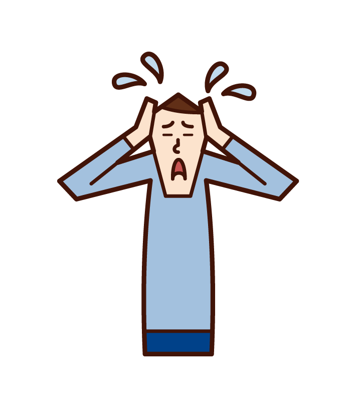 Illustration of a shouting person (woman)