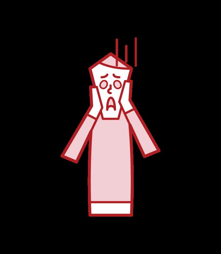 叫ぶ人(男性)のイラスト