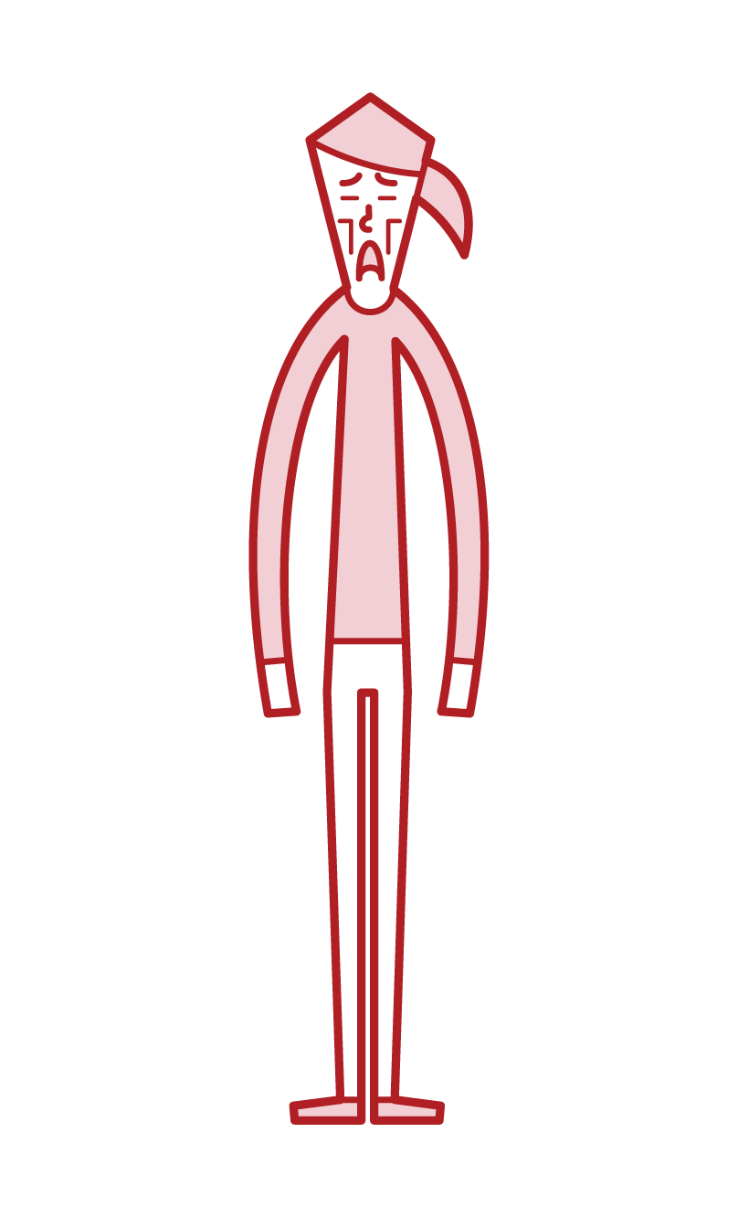 Illustration of a thin person (woman)