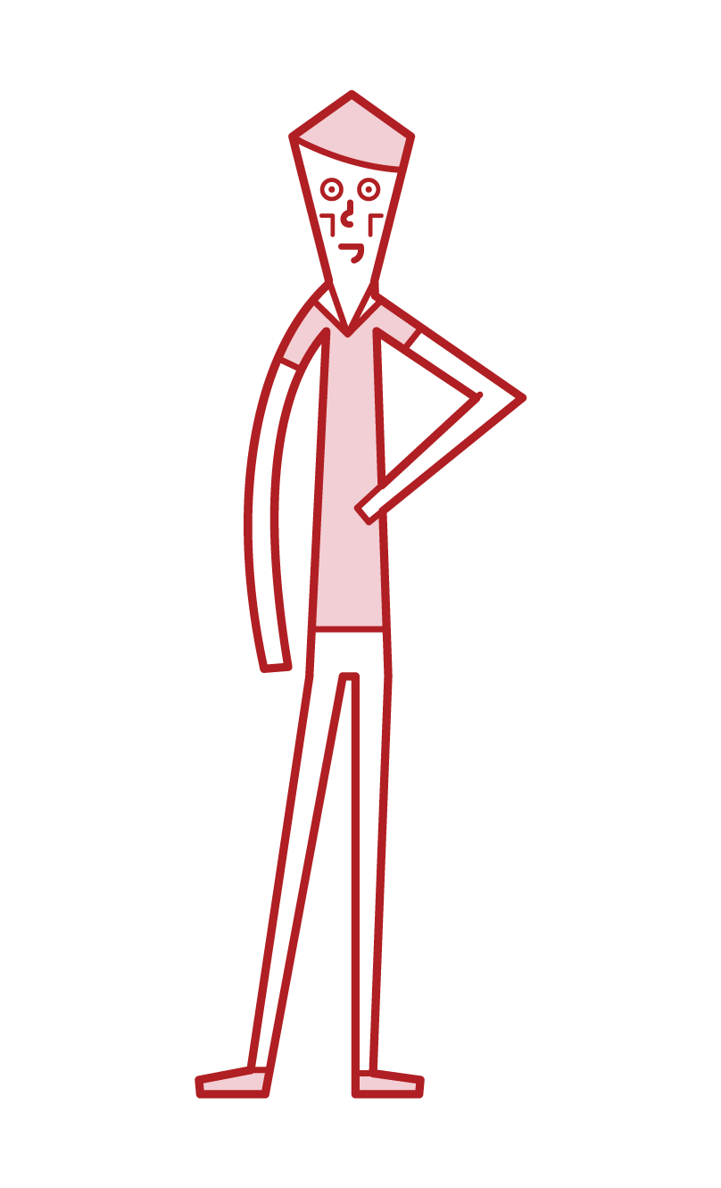 Illustration of a thin model (male)