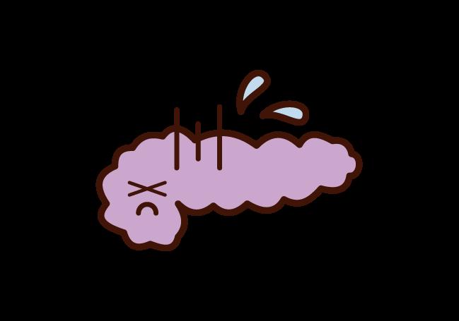Illustration of unhealthy pancreas