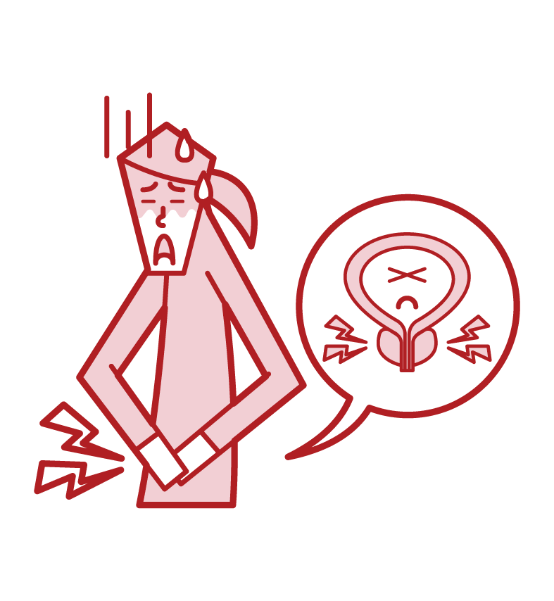 Illustration of prostatitis (female)