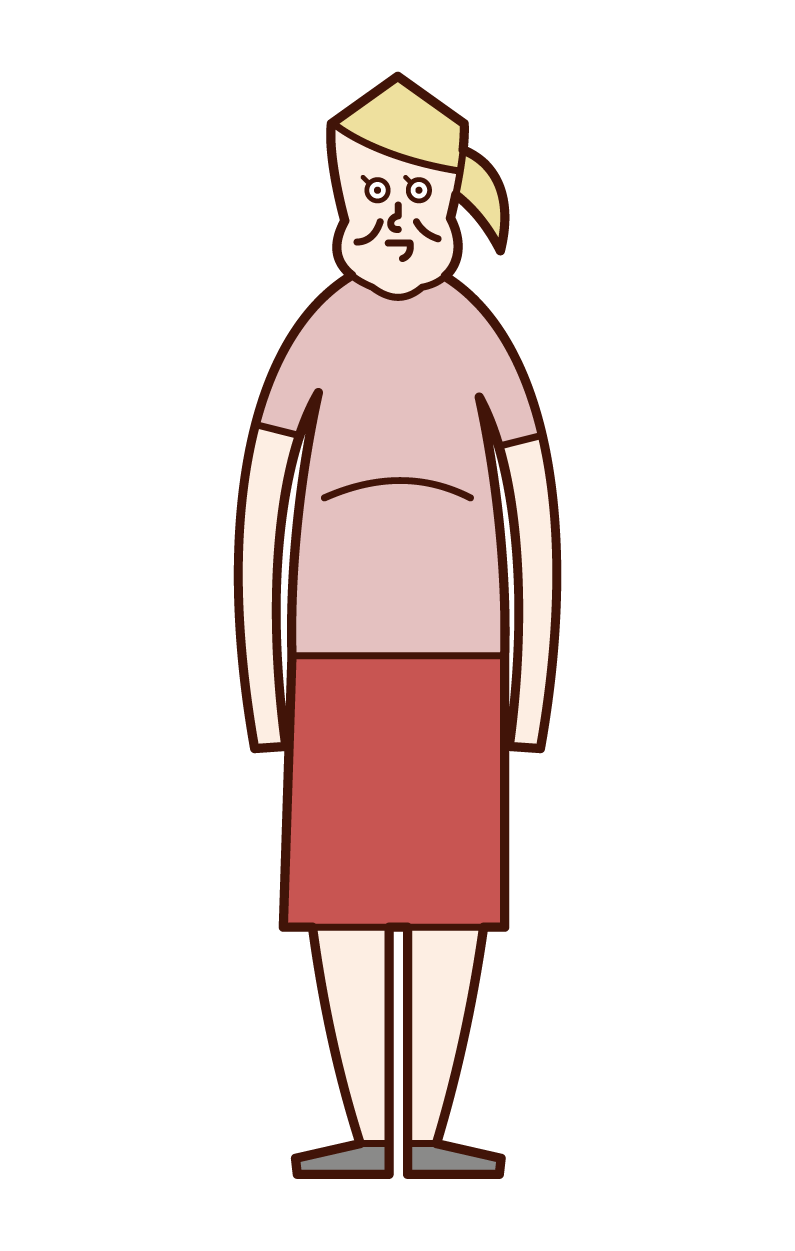 Illustration of fat person, obesity, metabolic syndrome (woman)