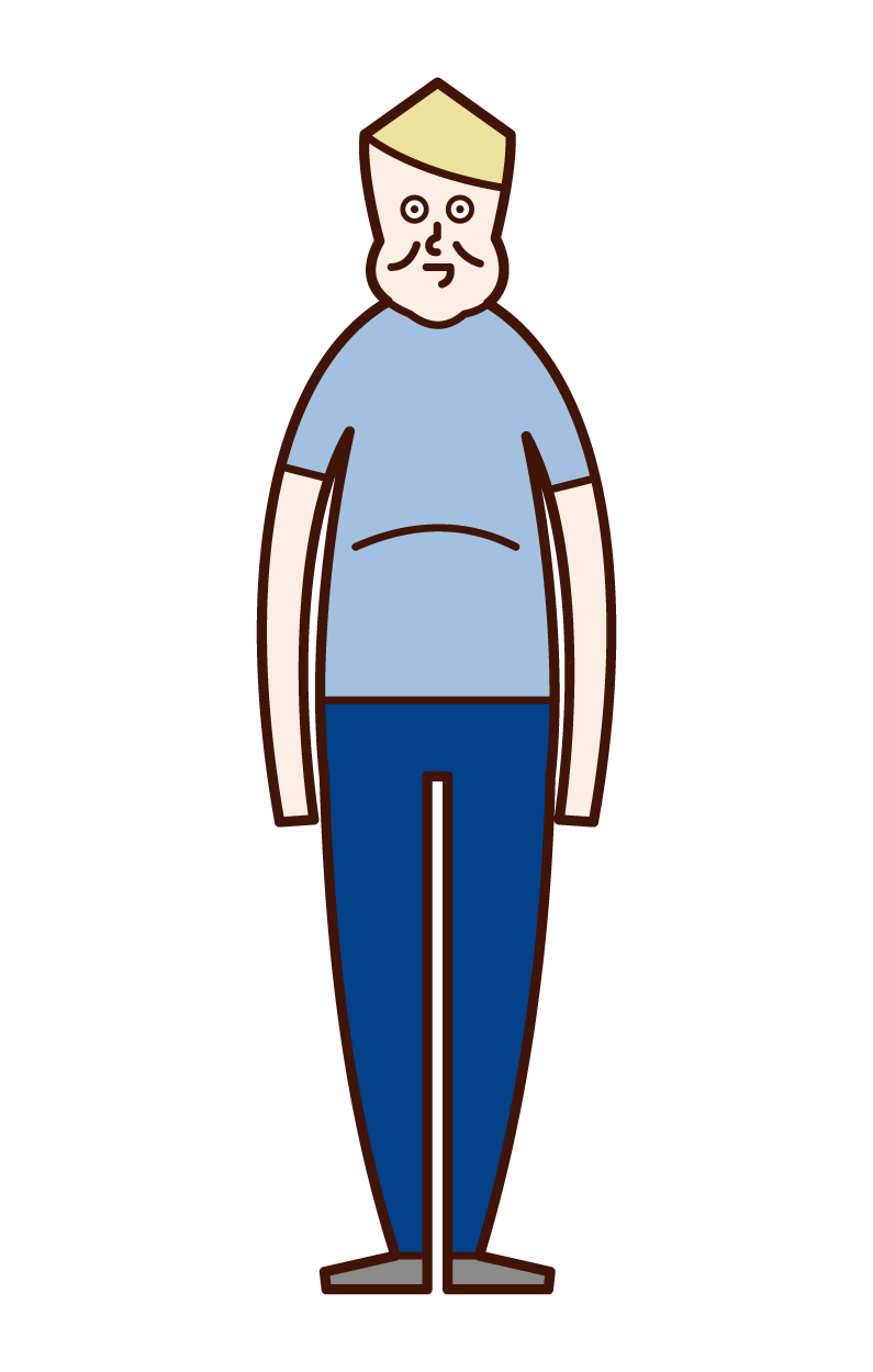 太った人・肥満・メタボリックシンドローム(男性)のイラスト