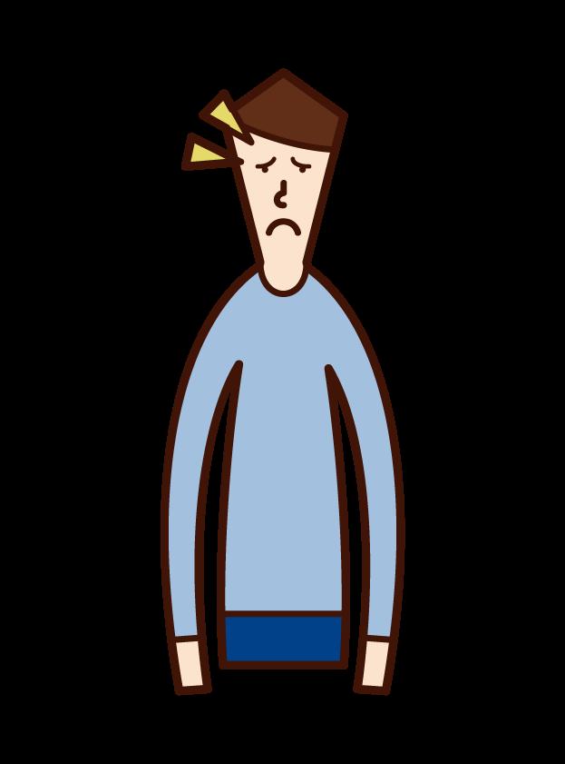 손 마비 (남성)의 그림