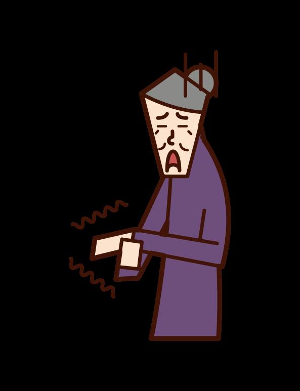 손 마비 (여성)의 그림