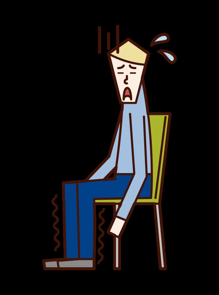 다리 마비 (남성)의 그림