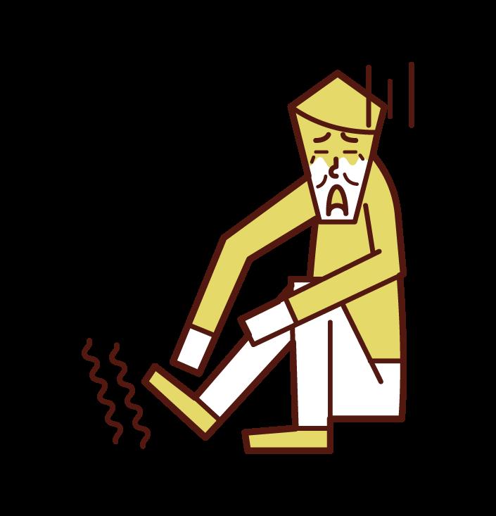 발 마비 (남성)의 그림