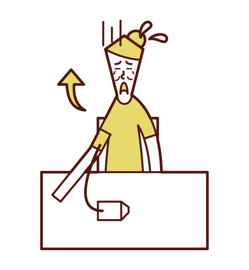 Illustration of high blood pressure (female)