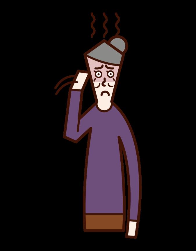 폐경 및 노보스 (여성) 일러스트