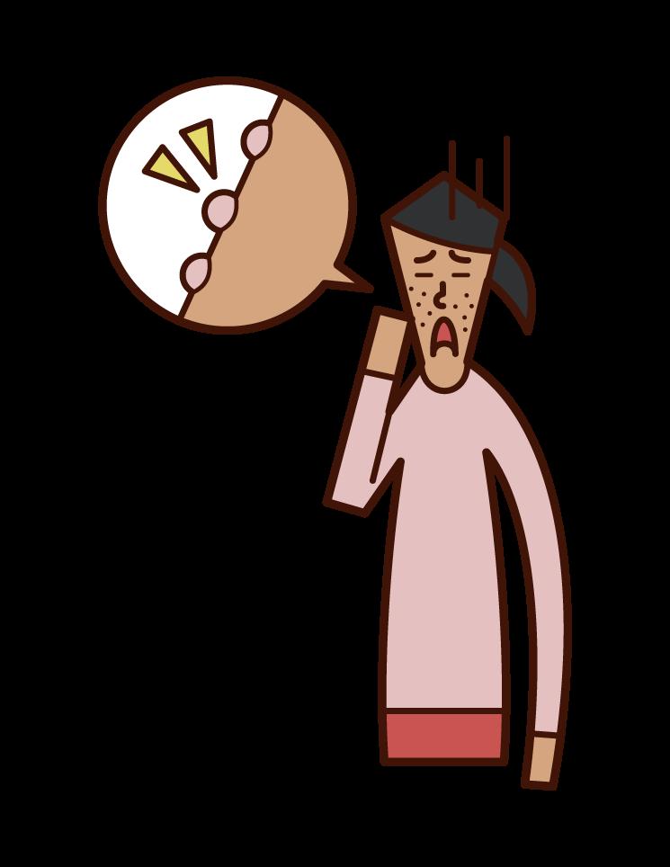 폐경과 거친 피부 (여성)의 그림