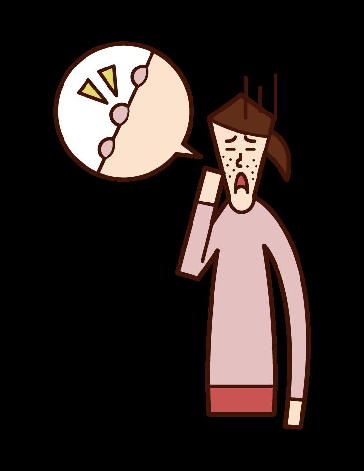 폐경과 가슴 통증 (여성)의 그림