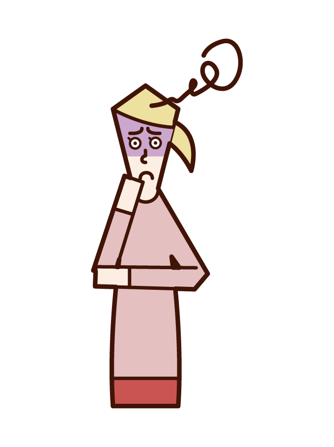 불안한 사람 (여성)의 그림
