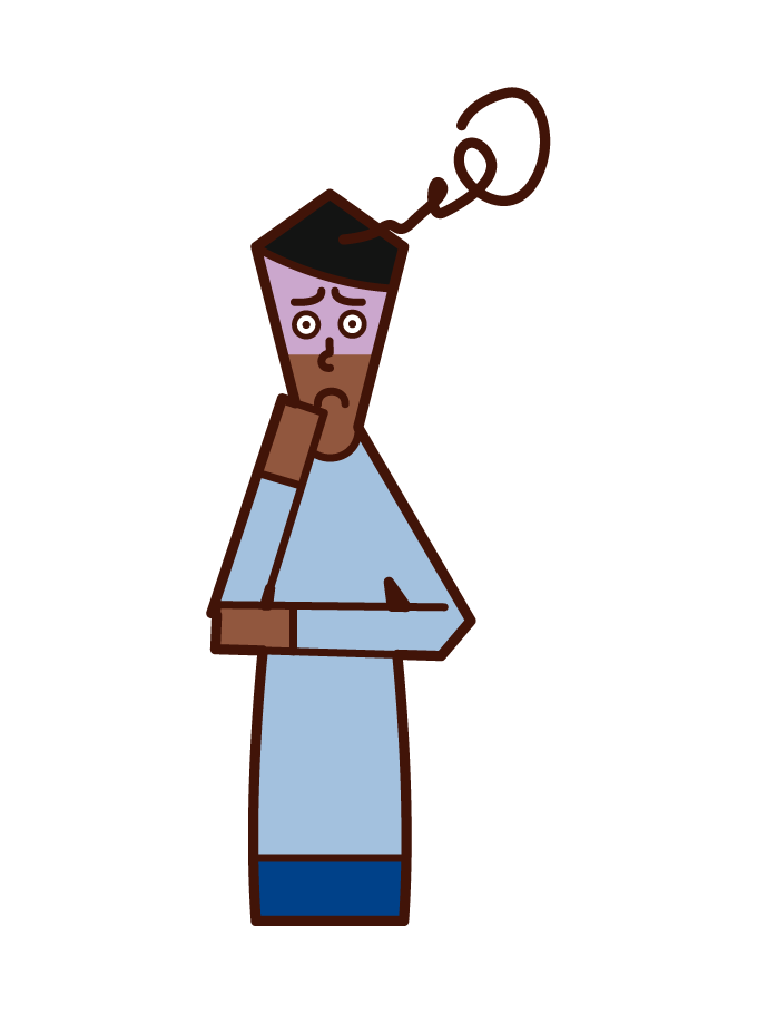 불안한 사람 (남성)의 그림
