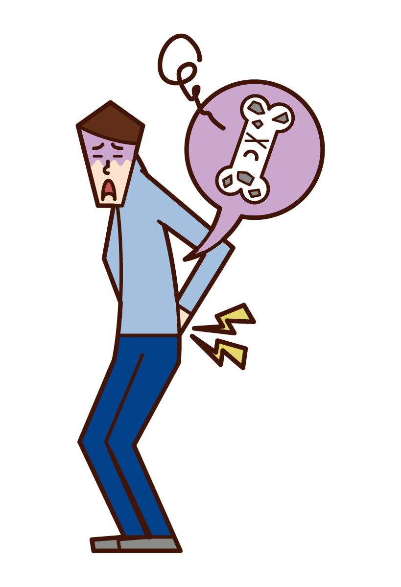 骨粗しょう症(男性)のイラスト