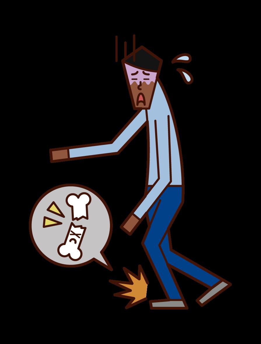골다공증과 골절 (남성)의 그림