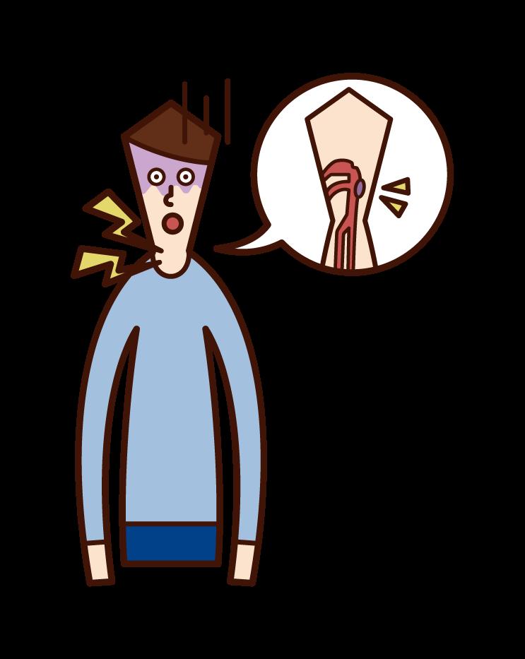 咽頭癌(男性)のイラスト
