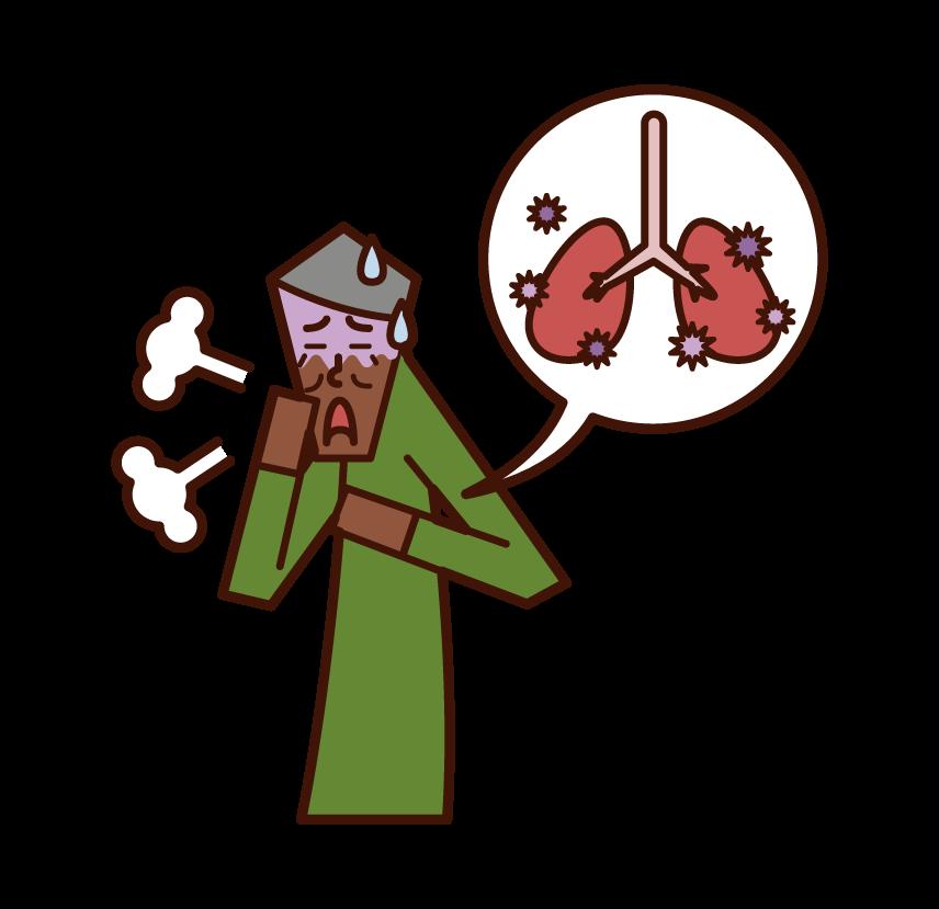 폐렴, 결핵 및 폐 질환 (남성)의 그림