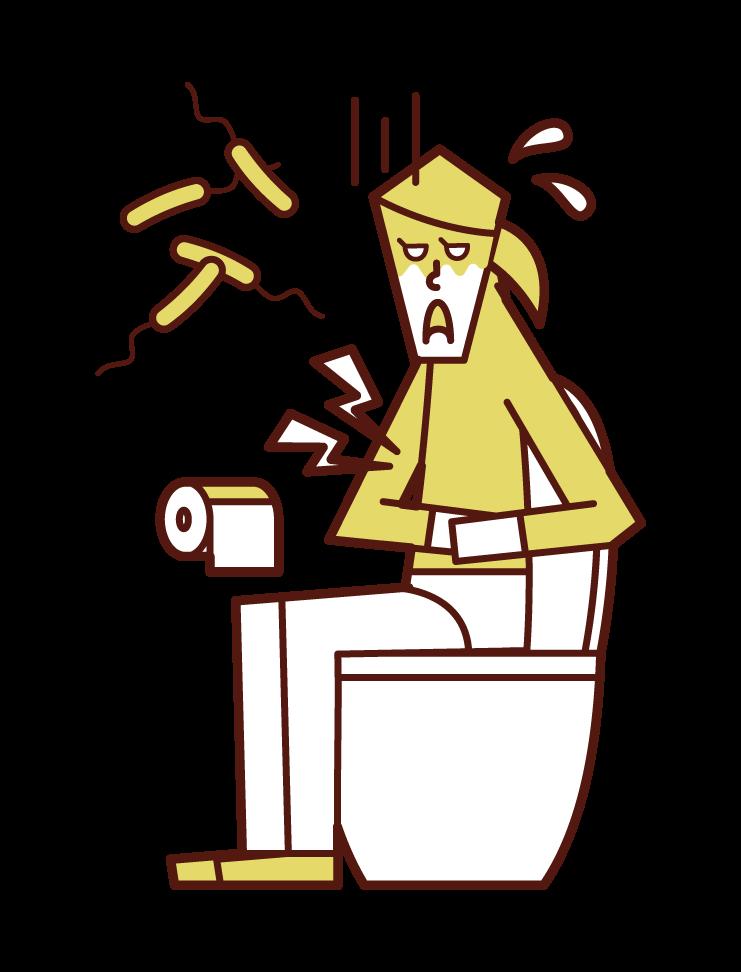 Illustration of Vibrio cholerae (female)
