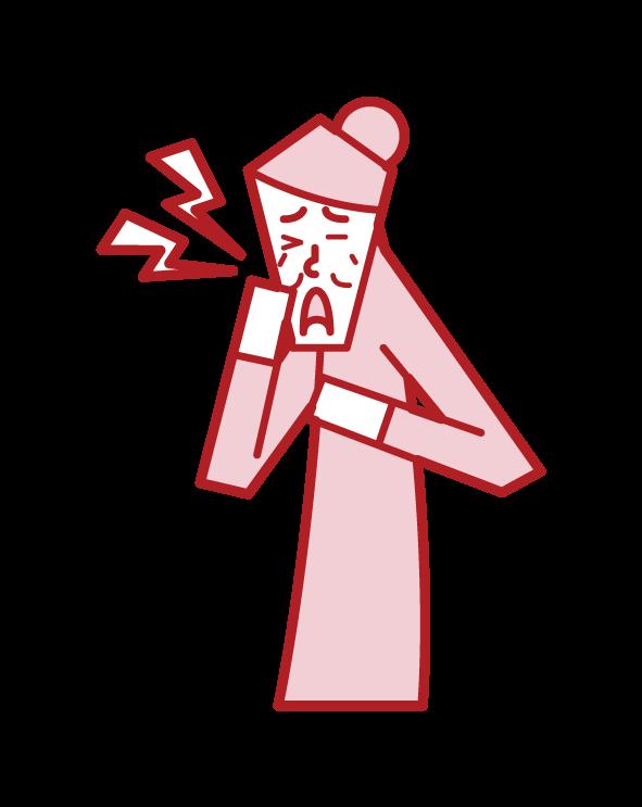 삼차 신경통 (여성)의 그림