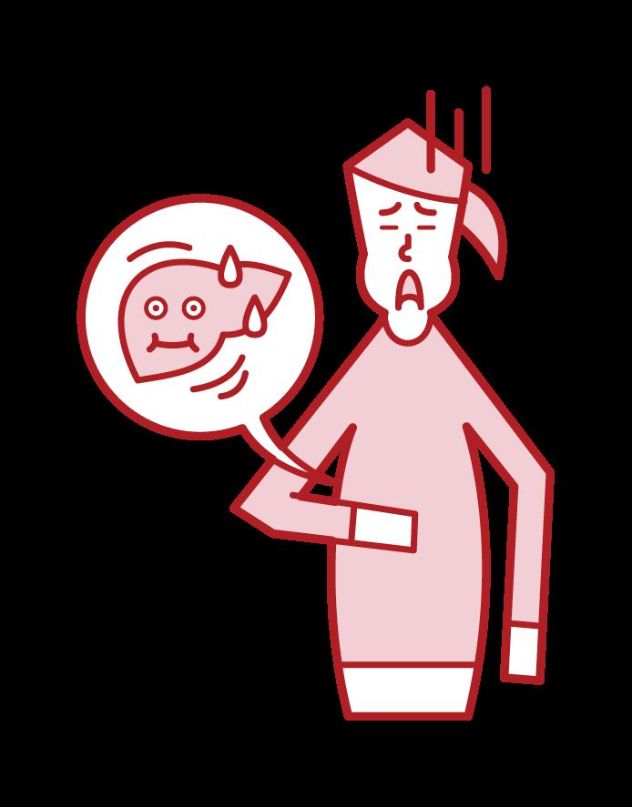 Fat Liver (Female) Illustration