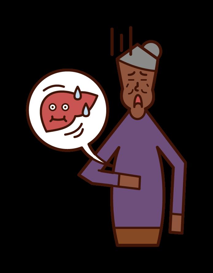 Fat Liver (woman) Illustration