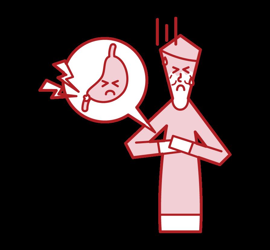십이장 궤양 (남성) 그림
