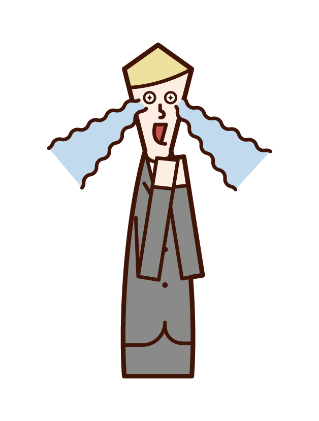 Illustration of an indessed person (male)